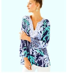 "Lilly Pulitzer 29"" RENATO SILK TUNIC"